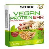 WEIDER Vegan Protein Bar 3 x 35 gr Cacahuete